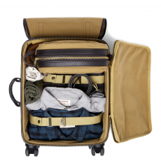 Filson Rugged Twill Rolling 4-Wheel Carry-On Bag 20069583-Tan