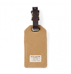 Filson Rugged Twill Luggage Tag 20152979 Tan