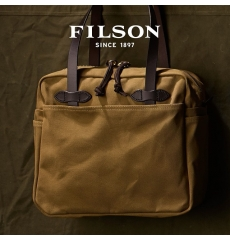 Filson Tote Bag With Zipper 11070261 Tan