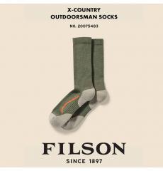 Filson X Country Outdoorsman Sock Green/Blaze