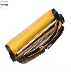 "Knomo Kobe Soft Leather Messenger Bag 15"" Black"