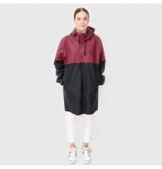 Stutterheim Stockholm Raincoat Blocked Burgundy Black