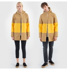 Stutterheim Stockholm Raincoat Large Stripe Sand