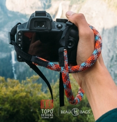 Topo Designs Camera Strap Maroon