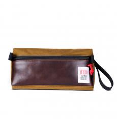 Topo Designs Dopp Kit Heritage Duck Brown/Dark Brown Leather