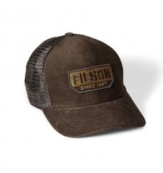 Filson Corduroy Logger Mesh Cap 20020937-Brown