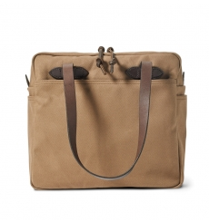 Filson Rugged Twill Tote Bag With Zipper 20112028-Sepia