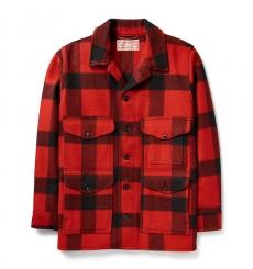 Filson Mackinaw Wool Cruiser Red/Black Plaid