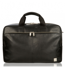 "Knomo Amesbury 15.6"" Double Zip Briefcase Black"