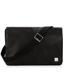 "Knomo Kinsale 13"" Slim Cross Body Messenger Black"