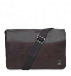 "Knomo Kinsale 13"" Slim Cross Body Messenger Brown"