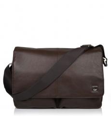 "Knomo Kobe 15"" Soft Leather Messenger Bag Brown"