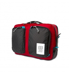 Topo Designs Global Briefcase Red/Black Ripstop