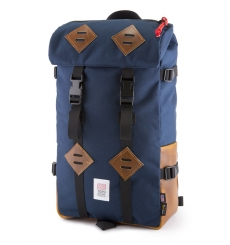 Topo Klettersack 22L Navy/Brown Leather