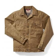 Filson Tin Cloth Short Lined Cruiser Jacket Dark Tan
