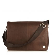 "Knomo Bungo 15.6"" Expandable Messenger Brown"