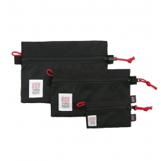 Topo Designs Accessory Bag 3 Pack Black