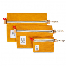 Topo Designs Accessory Bags 3 Pack Canvas Yellow