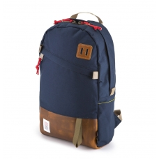 Topo Designs Daypack Navy/Brown Leather