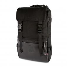 Topo Designs Rover Pack Ballistic Black/Black Leather