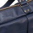 Leren Dames Laptoptas Sarah navy blue detail