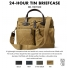 Filson 24-Hour Tin Briefcase 11070140 Tan color-swatch and description
