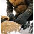 Filson Full Finger Knit Gloves Charcoal in the snow