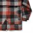 Filson Lined Wool Packer Coat Black/Charcoal/Rust back detail