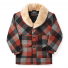 Filson Lined Wool Packer Coat Black/Charcoal/Rust front