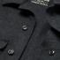 Filson Mackinaw Cruiser Dark Charcoal front detail