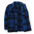 Filson Mackinaw Cruiser Jacket Cobalt Black front open
