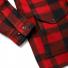 Filson Mackinaw Cruiser Jacket Red Black sleeve