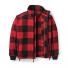 Filson Mackinaw Wool Field Jacket Red Black front open