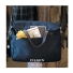 Filson Original Briefcase 11070256 Navy with goatskin gloves