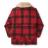 Filson Wool Packer Coat Red/Black Plaid back