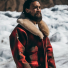 Filson Lined Wool Packer Coat Red/Green/Dark Brown 2020/2021 in the snow