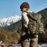Filson Ripstop Nylon Backpack 20115929-Surplus Green women in the field
