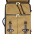 Filson Rugged Twill Rolling 4-Wheel Carry-On Bag 20069583-Tan front detail