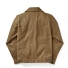 Filson Tin Cloth Short Lined Cruiser Jacket Dark Tan back