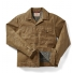 Filson Tin Cloth Short Lined Cruiser Jacket Dark Tan front open