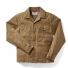Filson Tin Cloth Short Lined Cruiser Jacket Dark Tan front