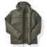 Filson Ultra Light Hooded Jacket Olive Gray front-open