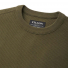 Filson Waffle Knit Thermal Crew Mossy Rock Crew detail