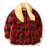 Filson Wool Packer Coat Red/Black open