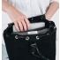Sandqvist Alva Backpack Black binnenkant met laptop