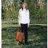 Sandqvist Helga Tote Bag Cognac Brown lifestyle
