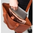 Sandqvist Helga Tote Bag Cognac Brown binnenkant met laptop