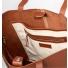 Sandqvist Helga Tote Bag Cognac Brown binnenkant detail