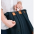 Sandqvist Silas Backpack Blue side zipper