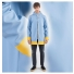 Stutterheim Stockholm Raincoat Blue Fog Frame men effect